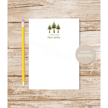 Pine Tree Personalized Notepad