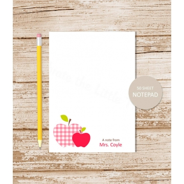 personalized apple notepad
