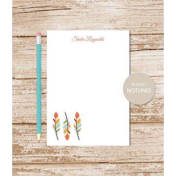 personalized feathers notepad