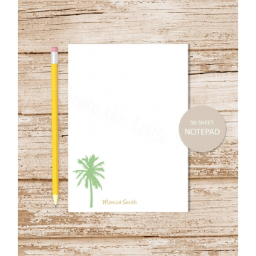 personalized palm tree notepad