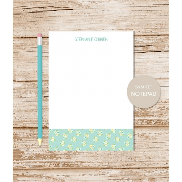 personalized may flowers notepad