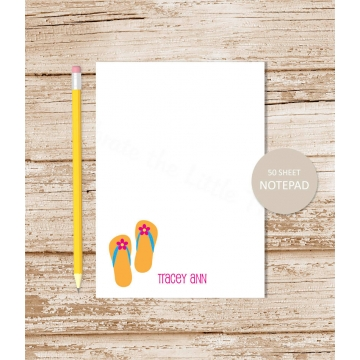 personalized flip flops notepad