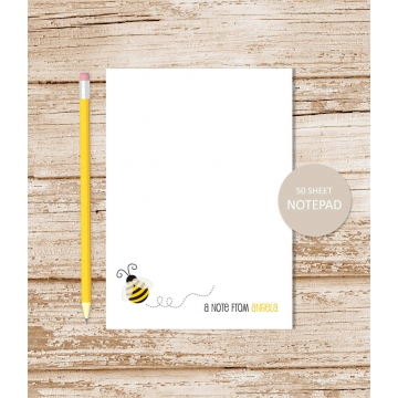 bee personalized notepad