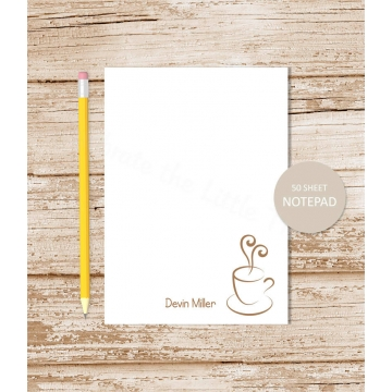 personalized coffee notepad
