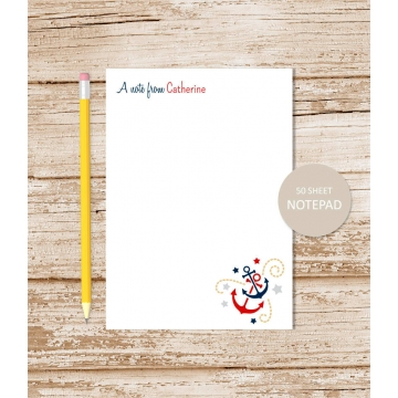personalized anchor notepad