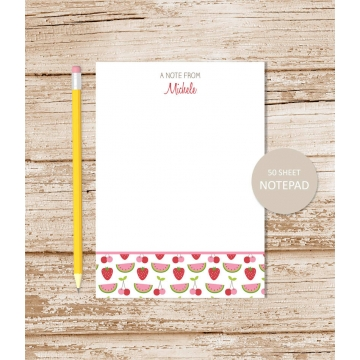 personalized fruity notepad