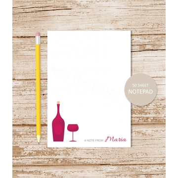 personalized wine notepad