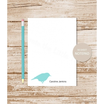 personalized bird notepad