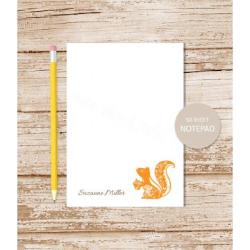 personalized squirrel notepad