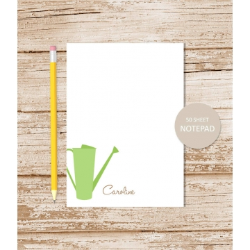personalized gardener watering can notepad