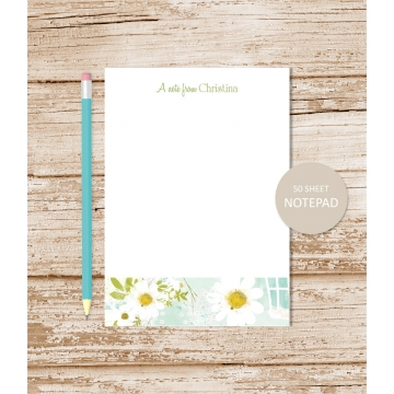 personalized camomile daisy notepad