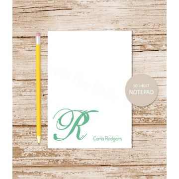 initial personalized notepad