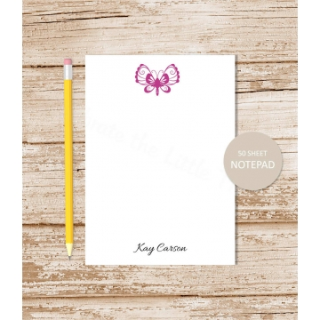 personalized butterfly notepad