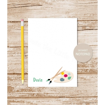 personalized artist, painter notepad