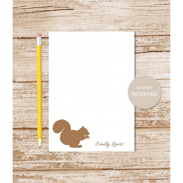 squirrel personalized notepad