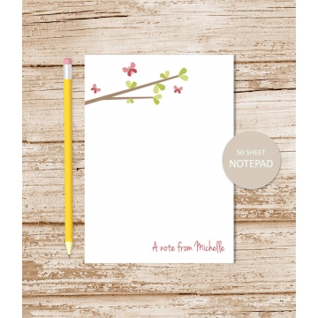 Butterfly Tree Personalized Notepad