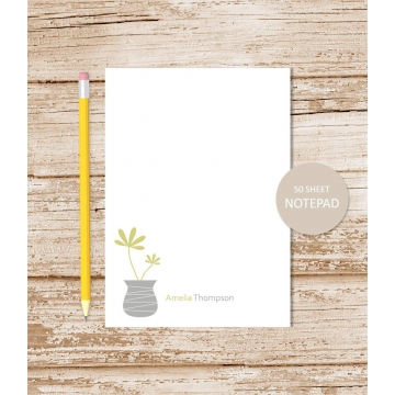 Personalized Potted Plant Notepad
