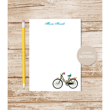 Personalized Vintage Bicycle Notepad
