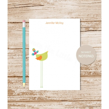 Personalized Tall Bird Notepad
